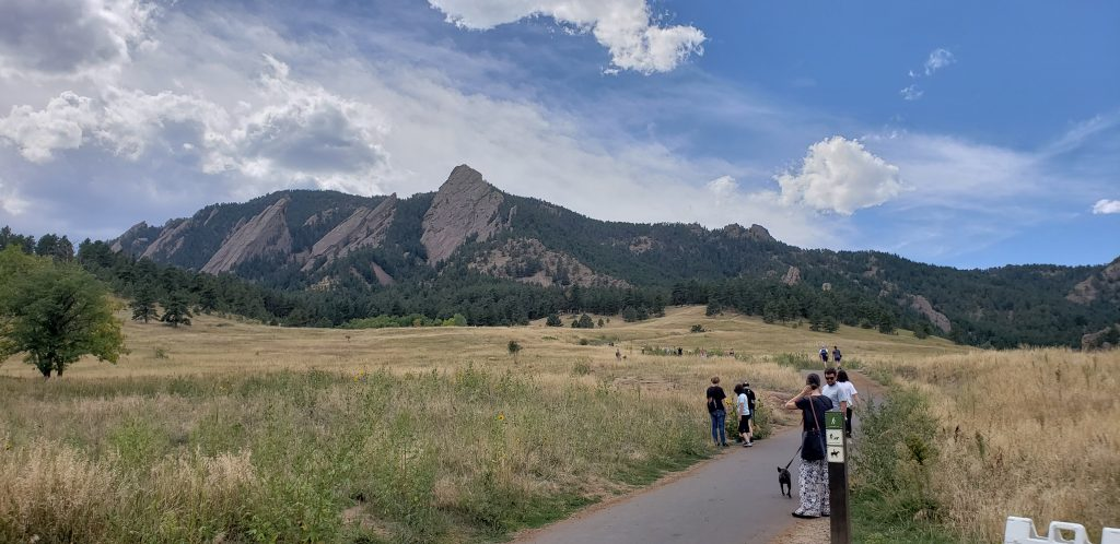 Hiking FlatIrons Colorado